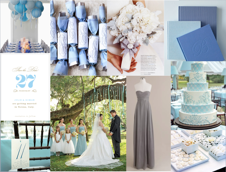 silver and carolina blue weddings